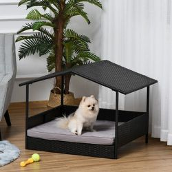 Wicker Pet House Indoor/Outdoor Rattan Furniture with Cushion Grey for Sale in Los Angeles,  CA
