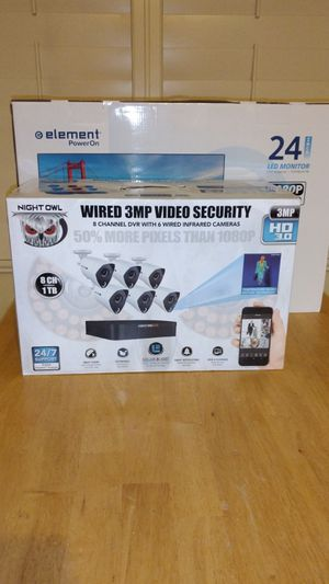"Night Owl 6 Camera 3MP 1TB Wired Video Security System w/ 24"" Monitor for Sale in Buckeye, AZ"
