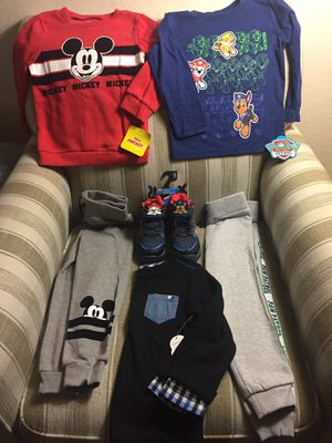 Kids boy clothes for 4 age and shoes size9 all new with tag for Sale in Milpitas, CA