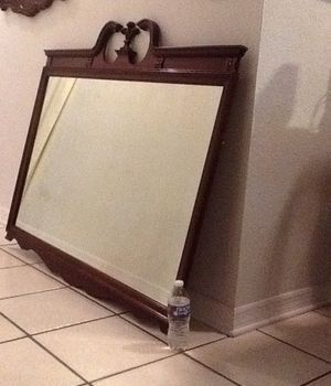 Large antique mirror/ wood and glass mirror for Sale in Brandon, FL