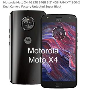 Motorola Moto X4 Black Unlocked in Original Box 32GB Android Phone AT&T Sprint T-Mobile Verizon for Sale in Las Vegas, NV