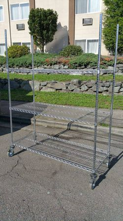 Commercial Industrial Heavy Duty Metal, Locking Wire Shelving/Cart for Sale in Auburn,  WA