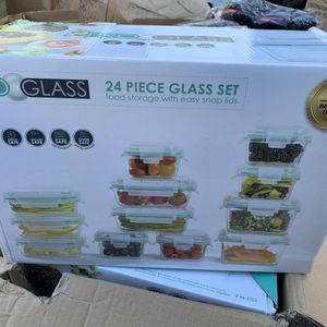 PRO GLASS 24 piece Glass food storage containers set for Sale in Ontario, CA