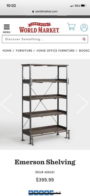 Two World market rustic bookshelves for Sale in Plano, TX