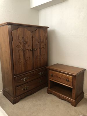 Standing Dresser and Side Table! for Sale in Denver, CO