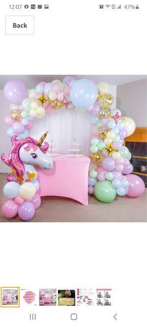 Unicorn Balloon Garland for Sale in Moreno Valley, CA