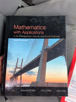 Mathematics with application college level text book for Sale in Davenport, IA