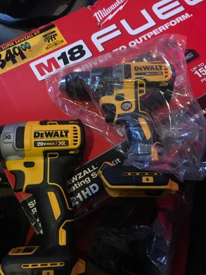 Dewalt impact and drill xr combo 2 2ah batteries and charger included for Sale in Columbus, OH