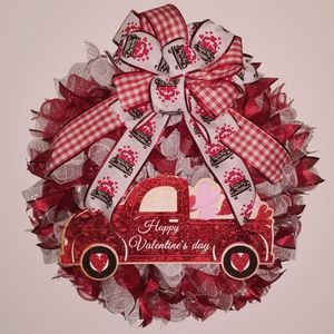 Deco Mesh Valentine's Wreath for Sale in Downey, CA