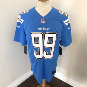 Nike men's authentic NFL Los Angeles Chargers Joey Bosa color rush sewn away jersey US Size L for Sale in Norwalk, CA
