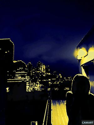 Digital Photo of the Seattle Skyline in Many Colors for Sale in Seattle, WA