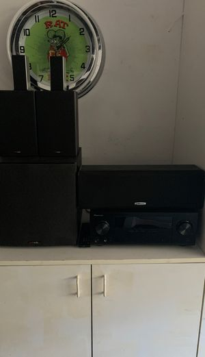 Pioneer 300 watt receiver with Polk audio speakers for Sale in San Marcos, CA