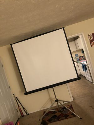 80 INCH PROJECTOR SCREEN ONLY $60!!!!!! for Sale in Fairburn, GA