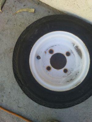 Trailer tire 4 lug 4.80-8 hi run spare tire new with rim 5 lugs 8 inch rim 4x80x8 for Sale in Ontario, CA
