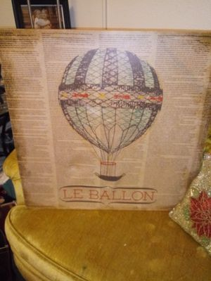 Hot air baloon painting comes with Hot air balloon vintage replica finely crafted for Sale in Tacoma, WA