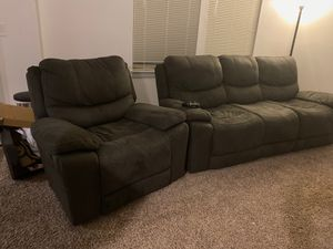 Couch and recliner for Sale in Tualatin, OR