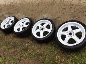 17 inch 4 - lug universal racing wheels for Sale in San Diego, CA
