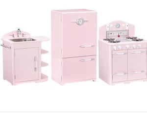 Beautiful Pottery barn retro pink 3 piece set kitchen for Sale in Palmetto Bay, FL