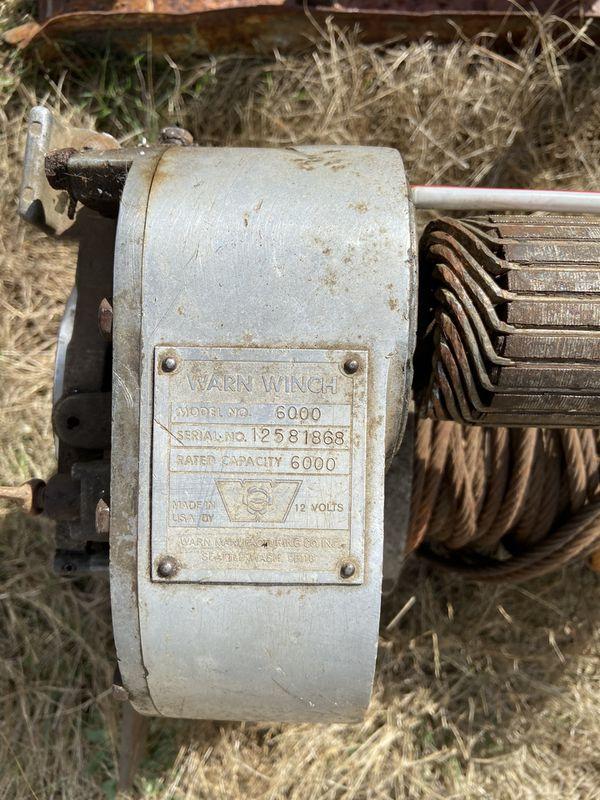 Warn 6000 winch - Belleview 8000lbs pull