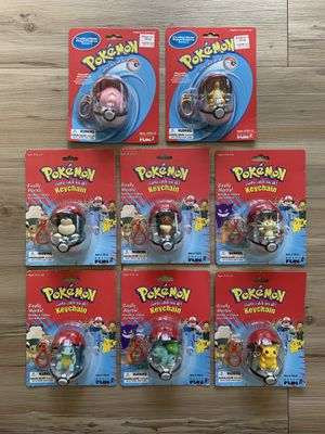 Lot of 8 Vintage Pokemon Collectible Keychains - Basic Fun 1999-2000 - sealed for Sale in Seattle, WA