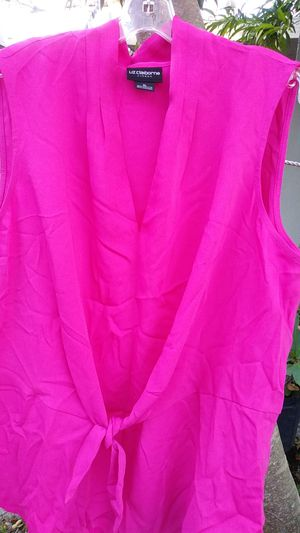 Hot pink Liz Clair born xlarge blouse for Sale in Brownsville, TX