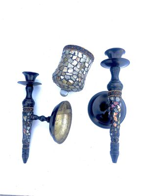 Mosaic glass wall sconce candle holder for Sale in St. Cloud, FL