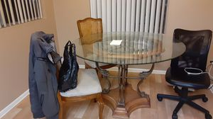 Dining room table glass and table stand only for Sale in Phoenix, AZ