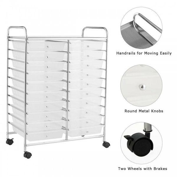 20 Drawers Storage Rolling Cart