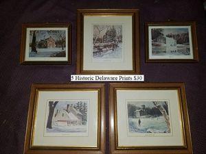 5 Historic Delaware Prints $30 for Sale in Dresden, OH