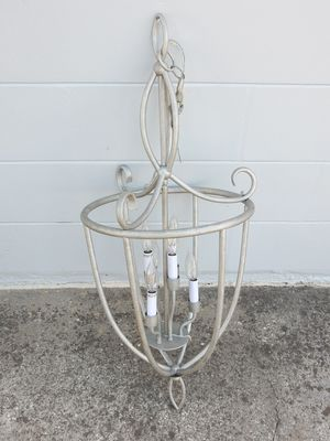 """Silver Chandelier 37"""" Tall x 15"""" Diameter 6 Candle Style Lights for Sale in Bartow, FL"""