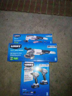 BRAND NEW HART BRUSHLESS IMPACT DRIVER, DRILL, GRINDER AND MULTITOOL for Sale in Raleigh, NC