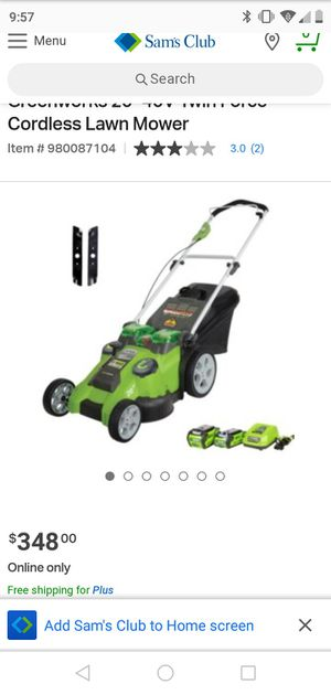 Greenworks lawnmower for Sale in Lindenwold, NJ