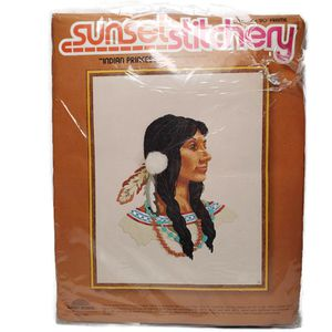 Vintage Sunset Stitchery Indian Princess by Dan Trotter for Sale in Temecula, CA