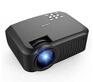 LCD Mini Projector 2400 Lumens Support 1080P with HDMI AV Cable for Multimedia Home Cinema Theater TV Laptop Game SD iPad iPhone Android Smartphone-B for Sale in Queens, NY