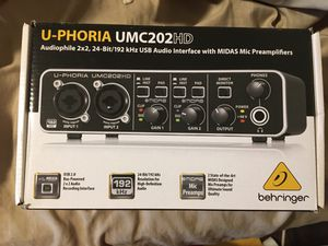 Behringer UMC202HD 2-in 2-out 192kHz Audio Interface for Sale in Port Orchard, WA