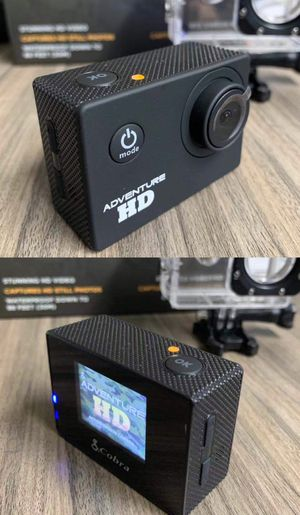 New in box Cobra Adventure HD sports generic gopro style camera cam 1080p water proof with lcd screen includes accessories for Sale in Montebello, CA