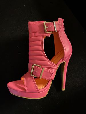 Hot Pink High Heel Open Toe Shoes for Sale in New Haven, CT