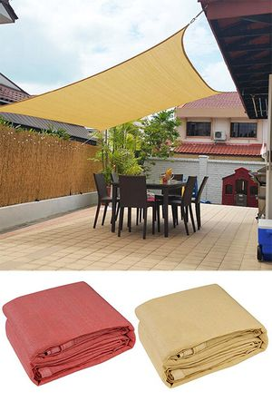(NEW) $55 each 18x18' Square Sun Shade Sail Outdoor Top Cover (Tan, Red) for Sale in El Monte, CA