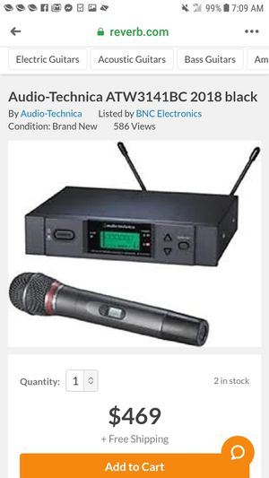 Wireless microphone system for Sale in Stanley, NC
