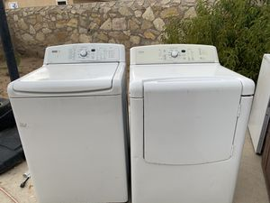Kenmore White washer & dryer set for Sale in El Paso, TX