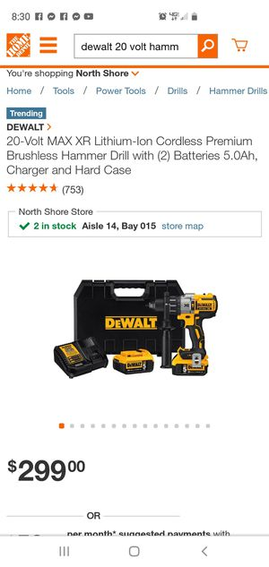 Dewalt hammer drill 20v max XR for Sale in Tampa, FL
