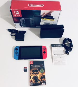 Nintendo Switch Neon Blue and Neon Red Joy‑Con W/ 2 GAMES INCLUDED for Sale in Orlando, FL