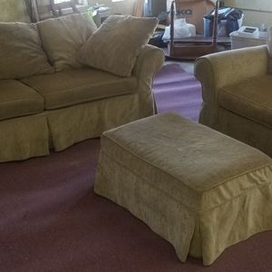 Sofa Chair Ottoman Set - Removable Washable Covers for Sale in Bowie, MD