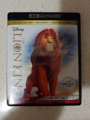 THE LION KING (4K + BLU RAY) ***SEE OTHER POSTS*** for Sale in El Cajon, CA