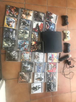 PS3 slim with tons of games for Sale in Miami, FL