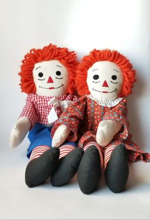 Vintage Handmade Raggedy Ann and Andy Dolls for Sale in Fontana, CA