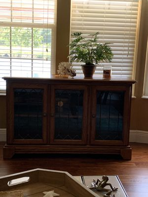 "Solid wood console table/ tv stand. 48 "" wide for Sale in Clearwater, FL"