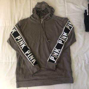 PINK grey half zip hoodie, x-small for Sale in Lakewood, OH