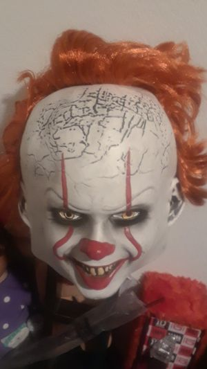 It 2 mask the new movie that came out great for Halloween full head for Sale in Ontario, CA
