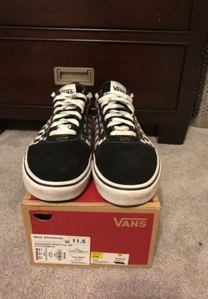 Checkered vans size 11.5 for Sale in Durham, NC